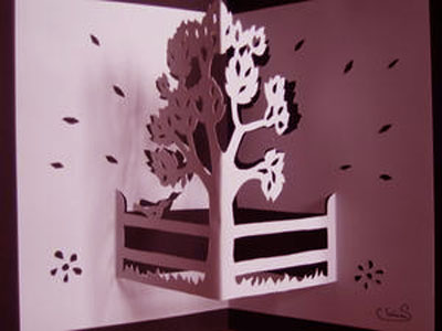 Kartu pop-up kirigami